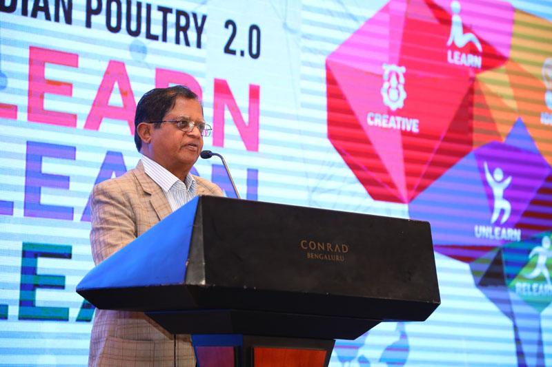 Dr. G.B. Puttannaiah addressing the gathering